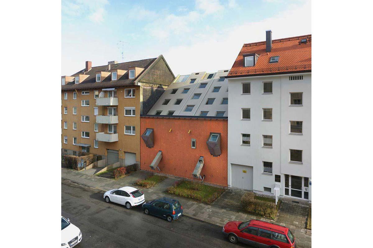 victorenrich architecture illustration 3d illusion photographie 15 - Victor Einrich, le photographe qui fait léviter les immeubles et renverse la ville