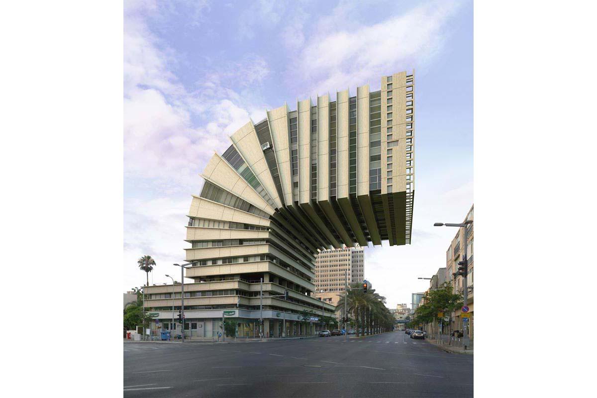 victorenrich architecture illustration 3d illusion photographie 49 - Victor Einrich, le photographe qui fait léviter les immeubles et renverse la ville