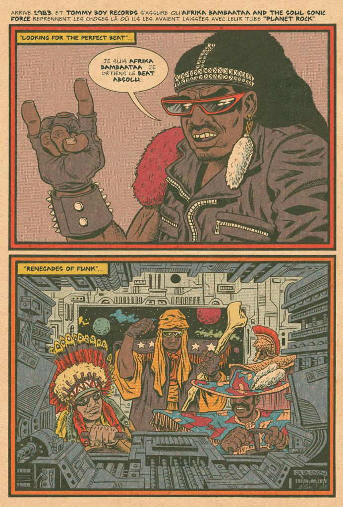 HipHopFamilyTree bandedessinee comics edpiskor noel 2018 cadeau RADAR dessin funk planche - 7 idées de cadeaux cools à offrir à Noël aux amateurs de musiques urbaines