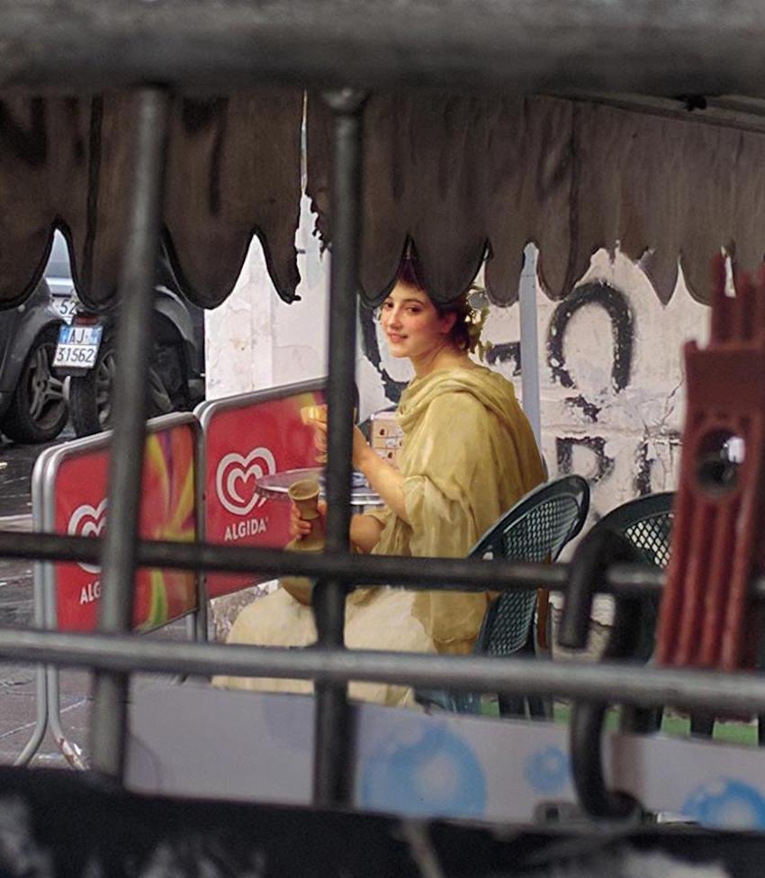 collage detournement instagram ville urbain graffiti tableaux peintures artclassique creatif AlexeyKondakov1702 - Les héros classiques squattent l'espace urbain grâce aux collages d'Alexey Kondakov