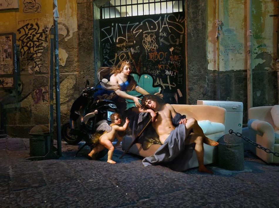 collage detournement instagram ville urbain graffiti tableaux peintures artclassique creatif AlexeyKondakov1706 - Les héros classiques squattent l'espace urbain grâce aux collages d'Alexey Kondakov
