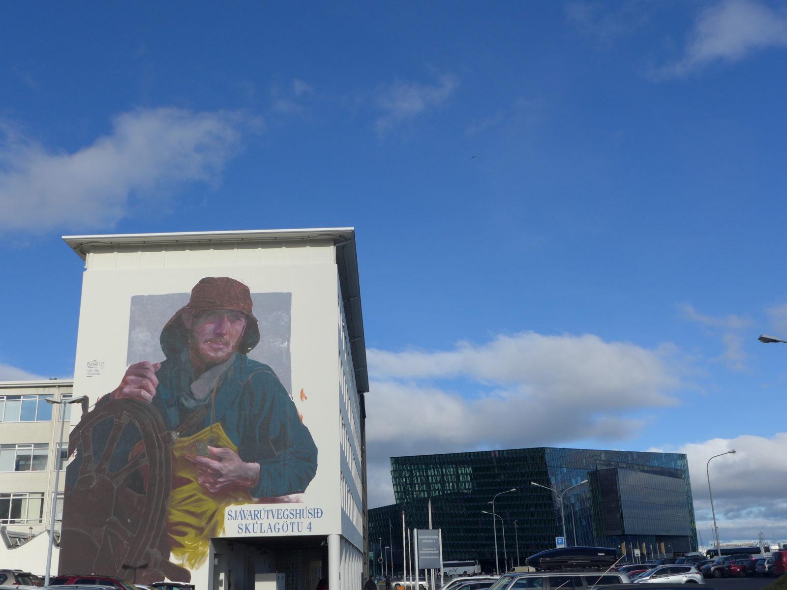 evoca1 saunstarr marin street art reykavik islande port wall poetry - Focus sur Reykjavik : la capitale de l'Islande s'ouvre au street art !