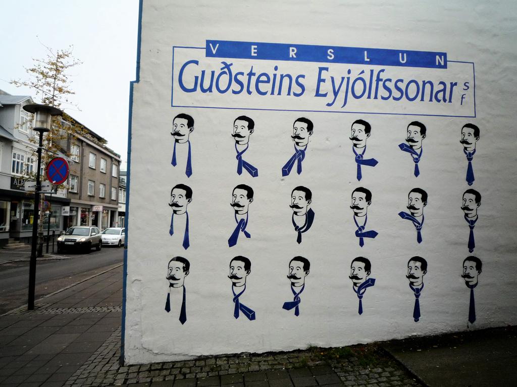 how to tie a tie street art islande reykjavik cravate - Focus sur Reykjavik : la capitale de l'Islande s'ouvre au street art !