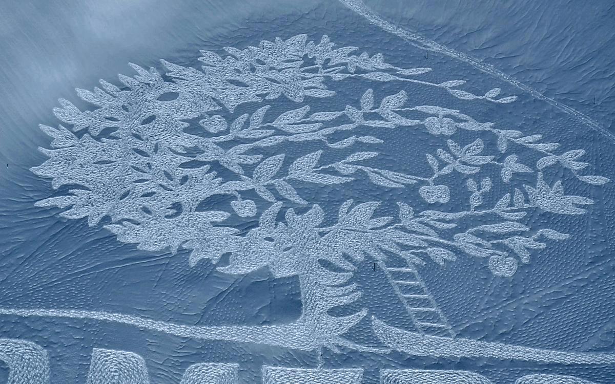 neige hiver creativite RADAR artistes snow art simon beck 5 - À la montagne comme à la ville, ces artistes transforment la neige en véritables œuvres d'art