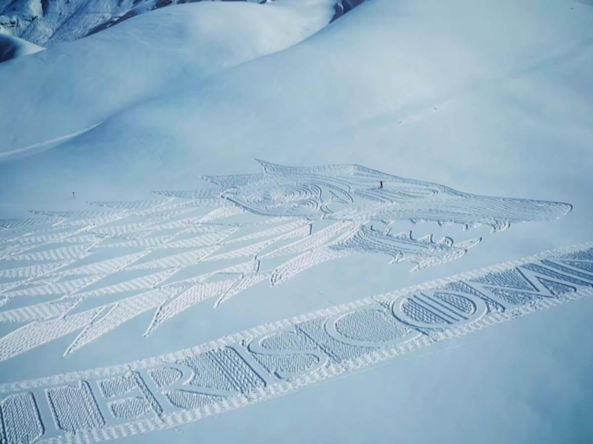 neige hiver creativite RADAR artistes snow art simon beck 8 - À la montagne comme à la ville, ces artistes transforment la neige en véritables œuvres d'art