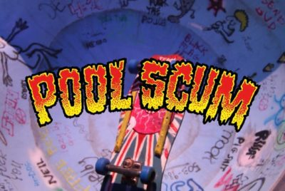 "poolscum moviemountains video skate stopmotion retro typo 400x268 - ""Pool scum"": la vidéo de skate en stop motion à son plus beau niveau !"