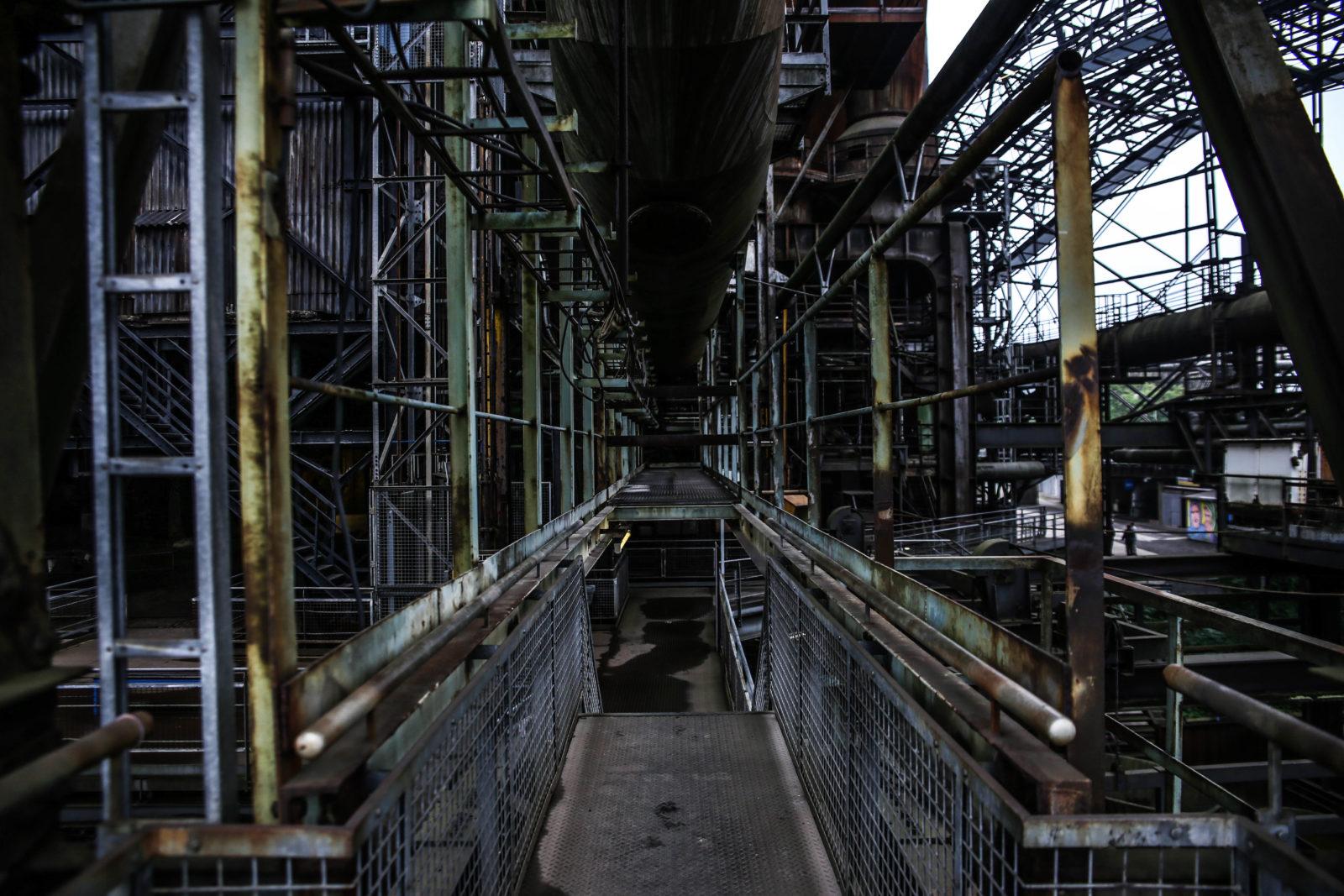 urbex explorationurbaine Volklingen usine abandonnee RADAR FrancsColleurs video tournage IMG9578 - Exploration en réalité augmentée de l'usine de Völklingen et des gouttes Francs Colleurs