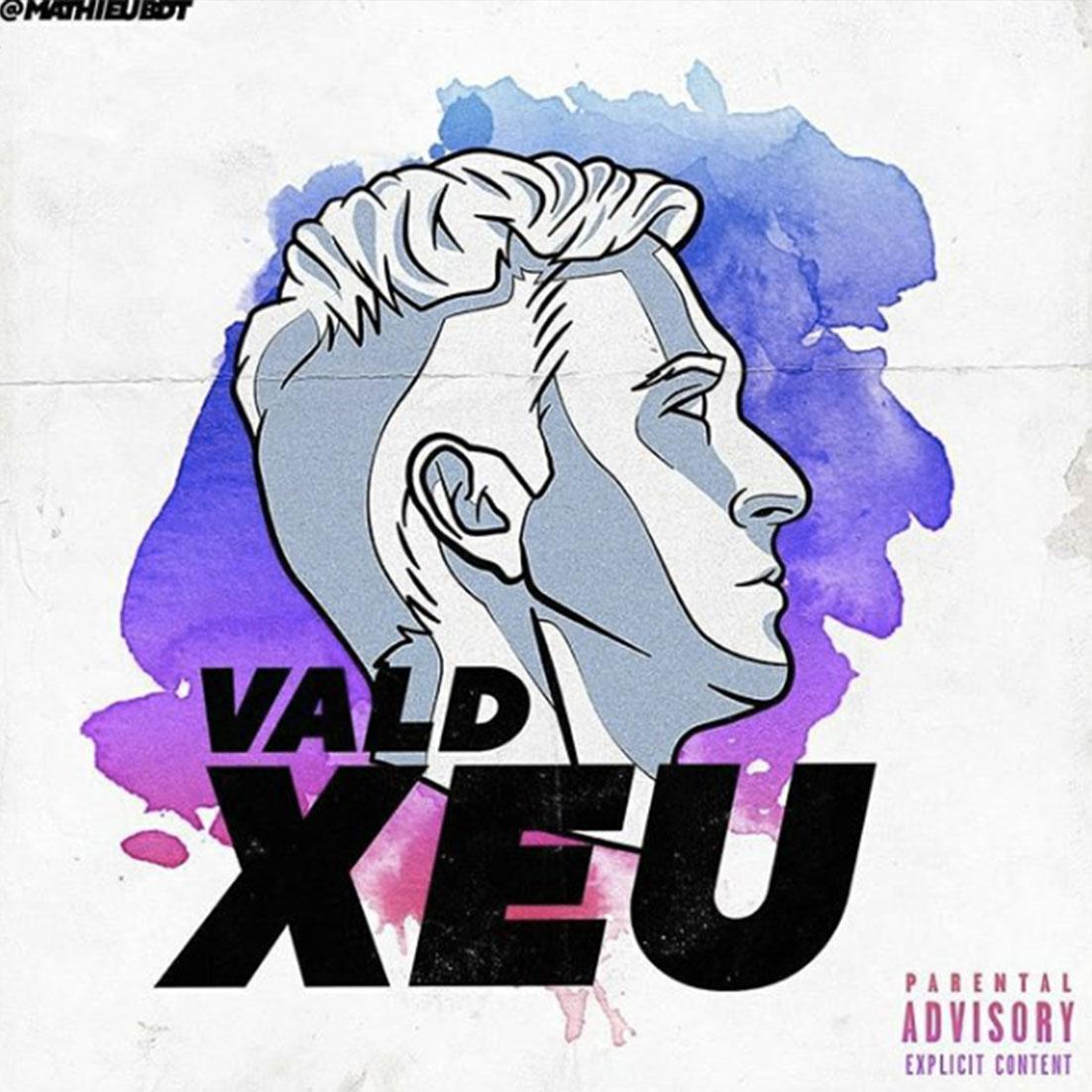 """Vald cover fans rap creation musique xeu illustration - Les meilleures pochettes réalisées pour """"XEU"""", le nouvel album de Vald"""