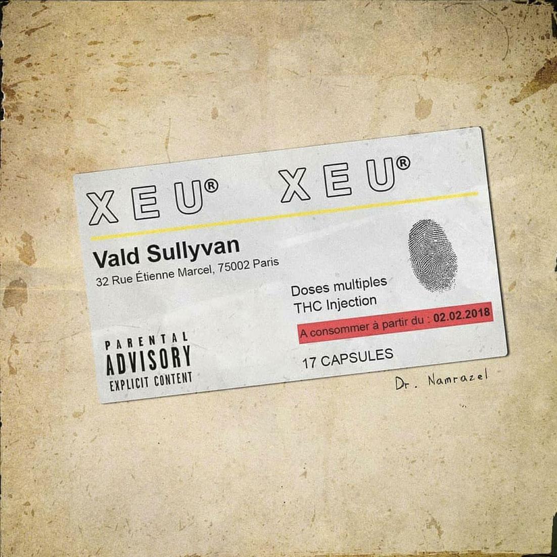 """Vald cover fans rap creation musique xeu produit - Les meilleures pochettes réalisées pour """"XEU"""", le nouvel album de Vald"""