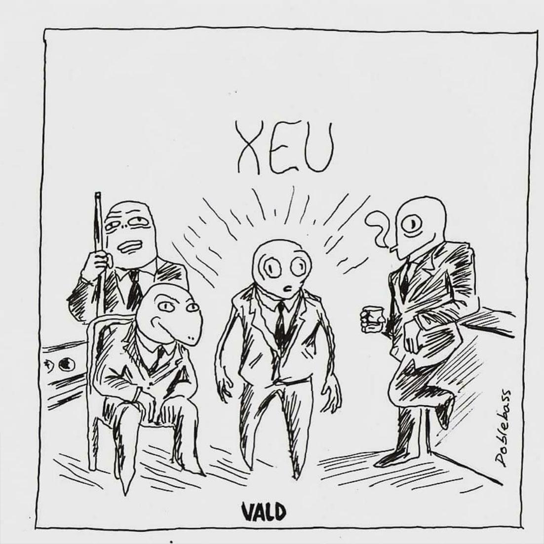"""Vald cover fans rap creation musique xeu reptiliens - Les meilleures pochettes réalisées pour """"XEU"""", le nouvel album de Vald"""