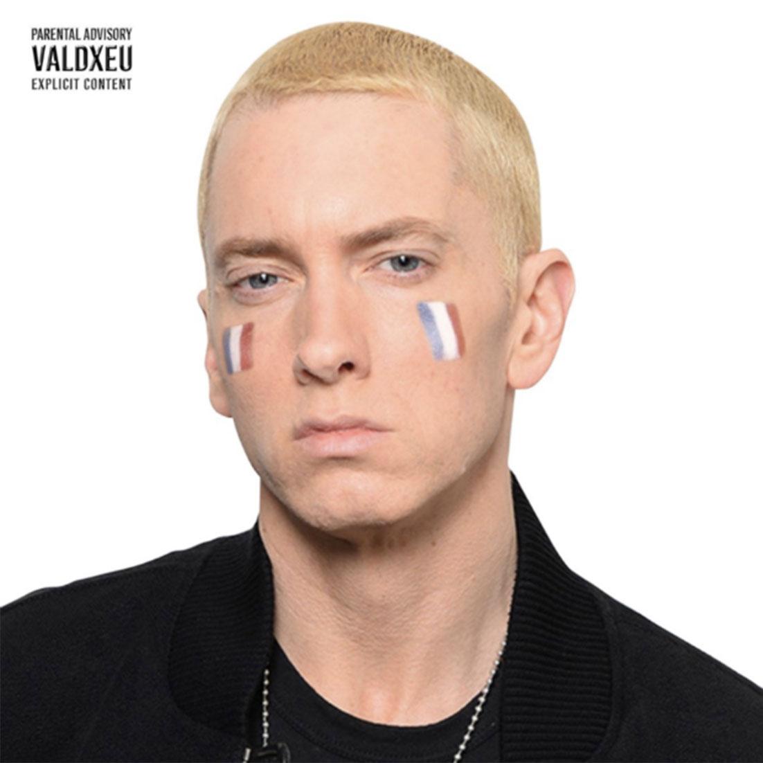 """Vald cover fans rap creation musique xeu visage eminem francais - Les meilleures pochettes réalisées pour """"XEU"""", le nouvel album de Vald"""