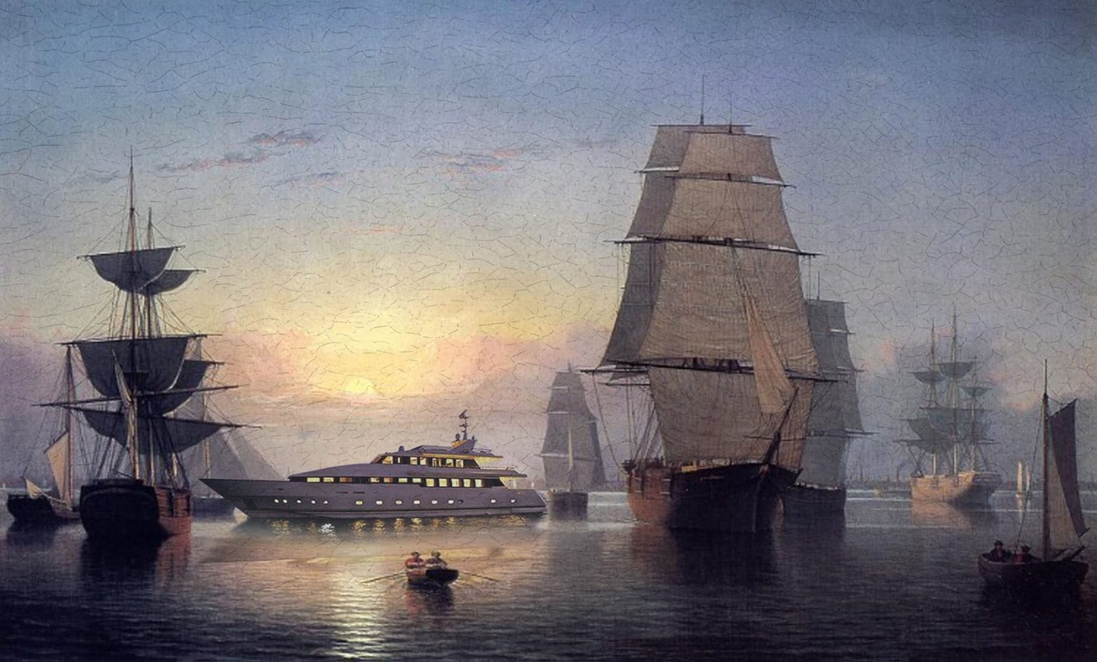 bateau yatch thorislausset detournement tableau peintureclassique - Painting update : les peintures classiques revisitées avec beaucoup d'humour et de modernité