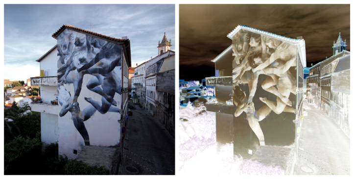 Les peintures murales de Bosoletti se révèlent en négatif