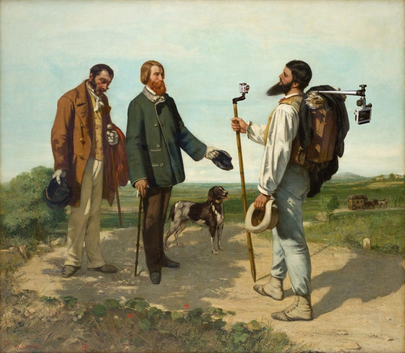 caleche appareilphoto selfie thorislausset detournement tableau peintureclassique - Painting update : les peintures classiques revisitées avec beaucoup d'humour et de modernité