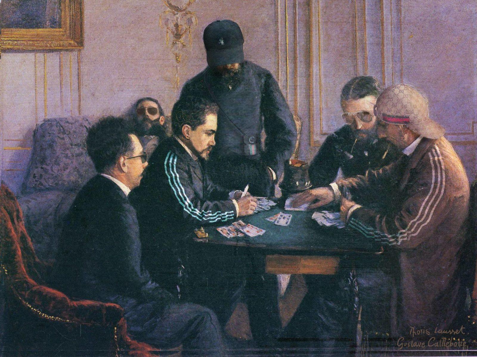 cartes adidas thorislausset peintureclassique detournement - Painting update : les peintures classiques revisitées avec beaucoup d'humour et de modernité