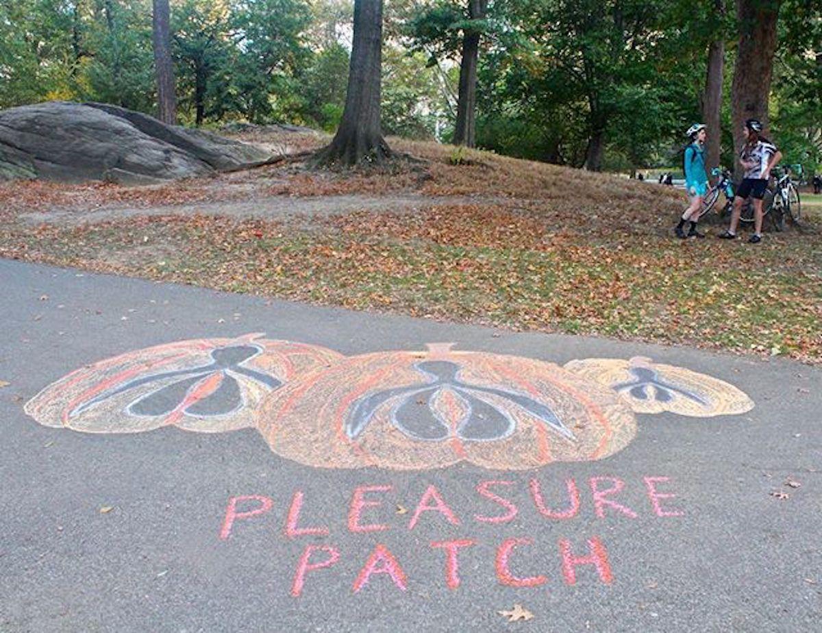 clitorosity 16 Laura Kingsley dessin craie art urbain rue trottoir clitoris streetart  - Clitorosity : quand le street art revendique le féminin dans l'espace urbain