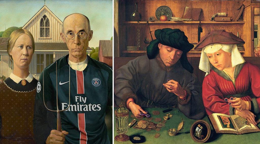 Painting update : les peintures classiques revisitées avec beaucoup d'humour et de modernité