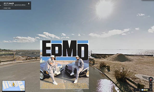 edmd hiphop cover pochette vinyle street view google radar urban - Les covers des plus grands albums hip-hop prennent vie dans Googe Street view