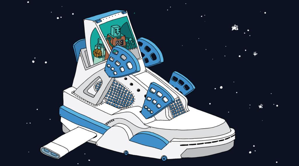 L'illustrateur Ghica Popa transforme des sneakers en vaisseaux spatiaux