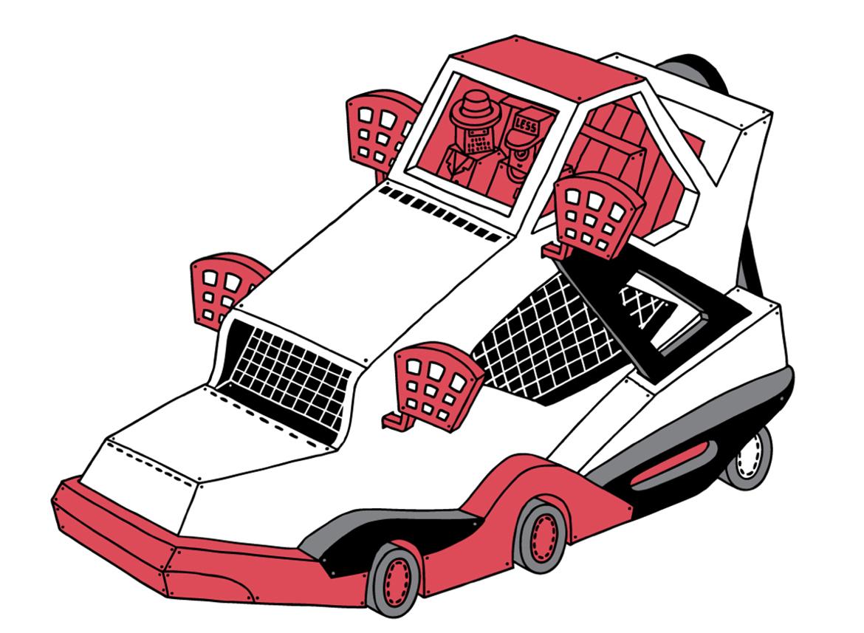 ghica popa less detournement basket art sneakers illustration 1 - L'illustrateur Ghica Popa transforme des sneakers en vaisseaux spatiaux
