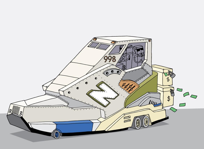ghica popa new balance basket art illustration sneakers detournement 1 - L'illustrateur Ghica Popa transforme des sneakers en vaisseaux spatiaux