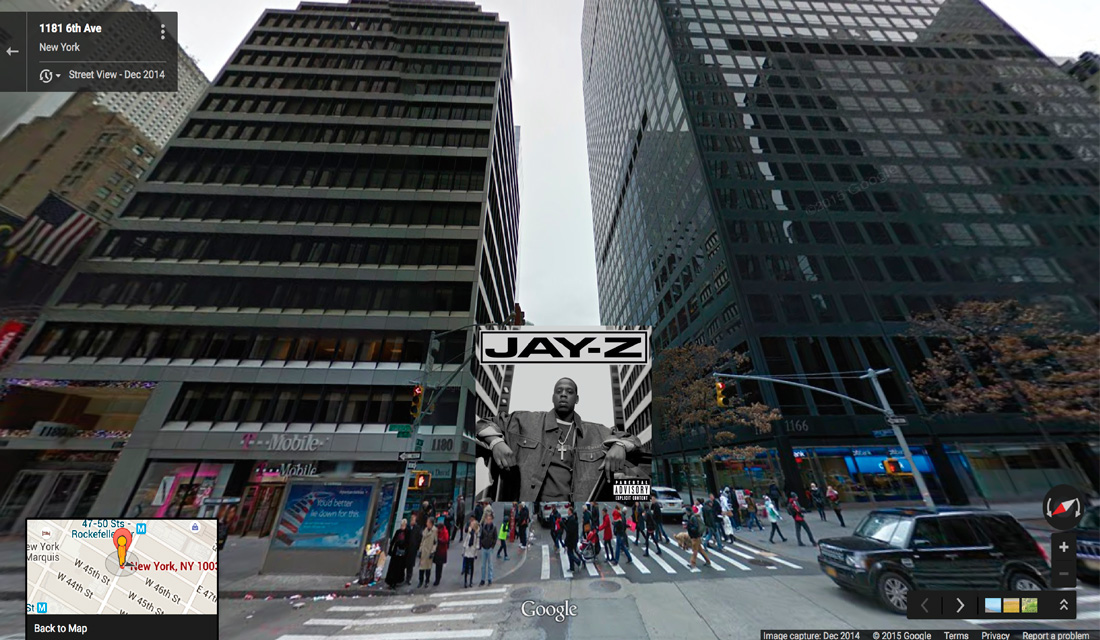 jayz hiphop cover pochette vinyle street view google radar urban - Les covers des plus grands albums hip-hop prennent vie dans Googe Street view