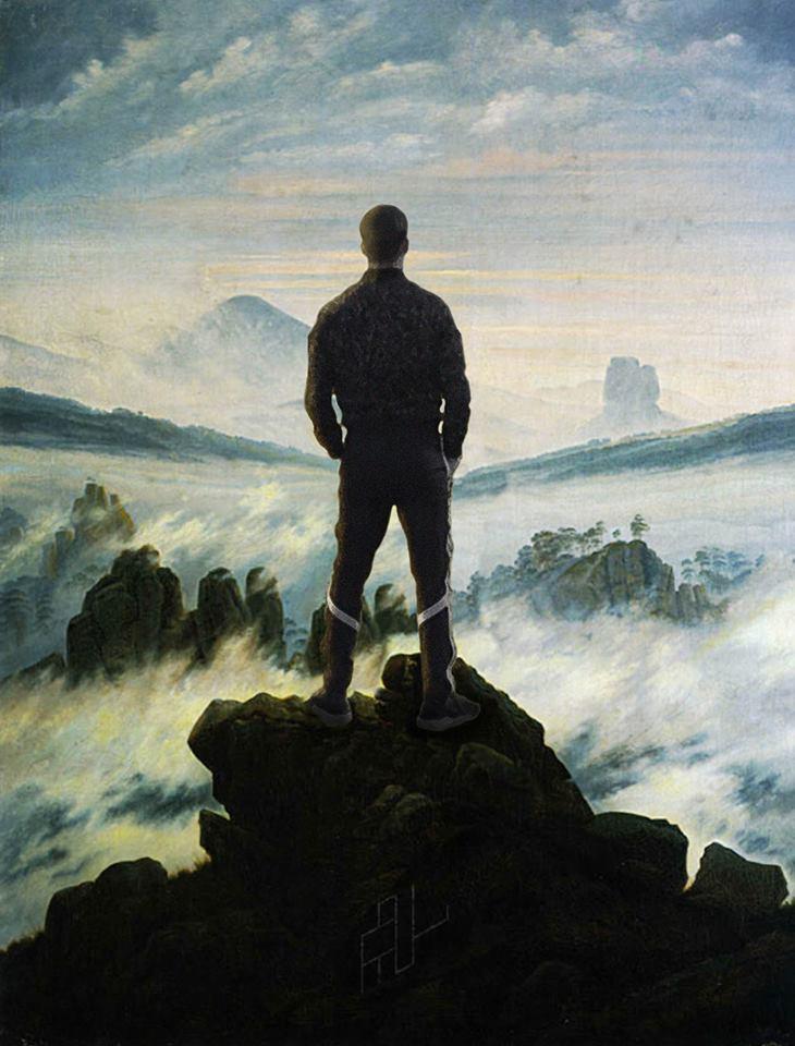 jooging romantisme thorislausset detournement tableau peintureclassique - Painting update : les peintures classiques revisitées avec beaucoup d'humour et de modernité