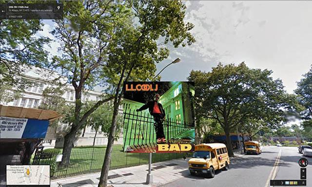 llcoolj hiphop cover pochette vinyle street view google radar urban - Les covers des plus grands albums hip-hop prennent vie dans Googe Street view