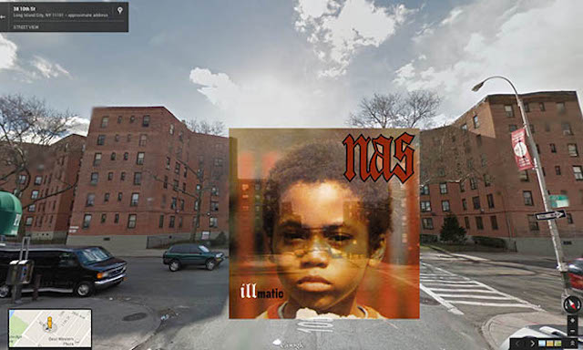 nas hiphop cover pochette vinyle street view google radar urban - Les covers des plus grands albums hip-hop prennent vie dans Googe Street view