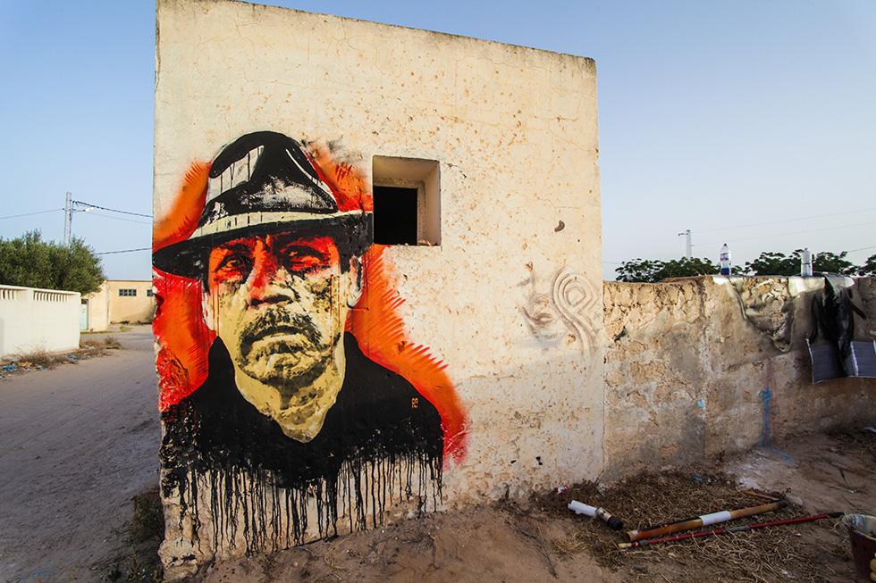 ortican djerbahood tunisie street art galerie village fresque visage portrait - Sur l'île de Djerba, un petit village tunisien porte haut les couleurs du street art