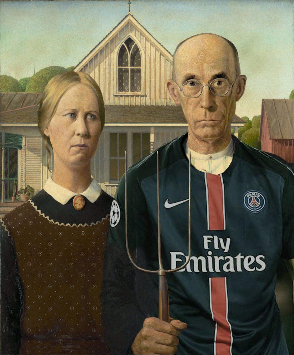 psg foot tshirt flyemirates thorislausset detournement tableau peintureclassique - Painting update : les peintures classiques revisitées avec beaucoup d'humour et de modernité