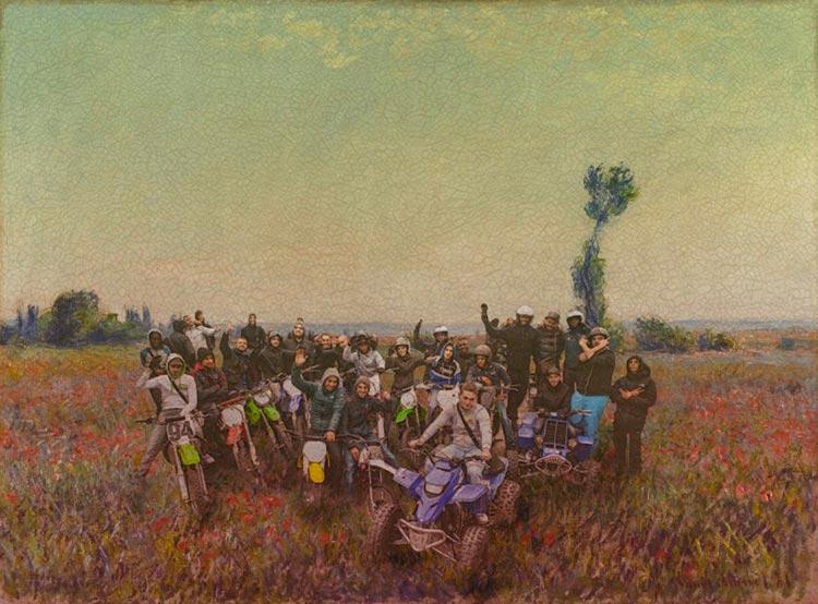 quad squad nature motocross thorislausset detournement tableau peintureclassique - Painting update : les peintures classiques revisitées avec beaucoup d'humour et de modernité