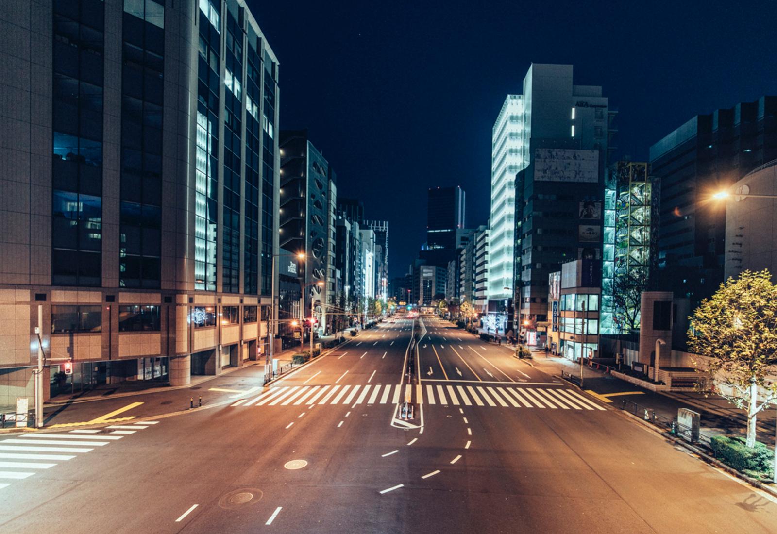 "ville deserte japon tokyo genaro bardy ville photo art - ""Desert in the city"" : Genaro Bardy photographie Tokyo vidée de ses habitants"