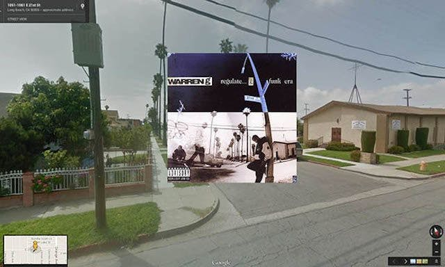 warreng hiphop cover pochette vinyle street view google radar urban - Les covers des plus grands albums hip-hop prennent vie dans Googe Street view