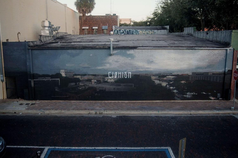 Axel Void street art peinture sombre vie habitant drogue amerique - L'artiste Axel Void peint la noirceur et la beauté du quotidien sur les murs