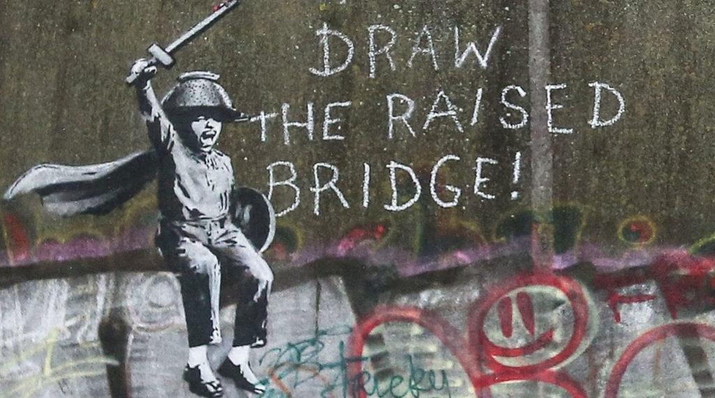 Une œuvre de Banksy sauvée in-extremis par un laveur de vitre