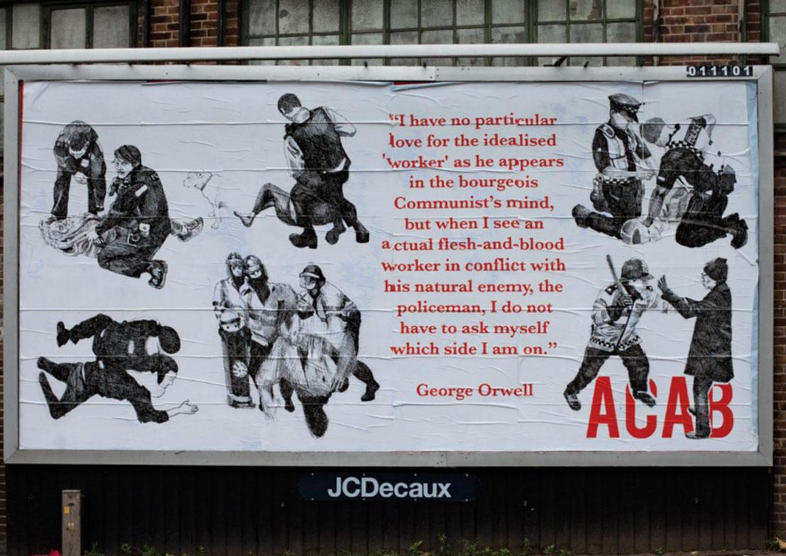 """acab"""" : un recueil d'affiches anti-police financé par la police"""