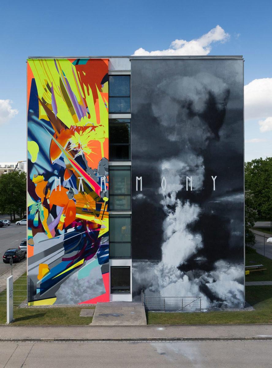 axel void typographie street art - L'artiste Axel Void peint la noirceur et la beauté du quotidien sur les murs