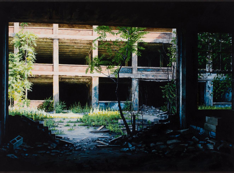 buer stephanie detroit peinture urbex - L'artiste Stéphanie Buer peint des lieux abandonnés avec un réalisme stupéfiant