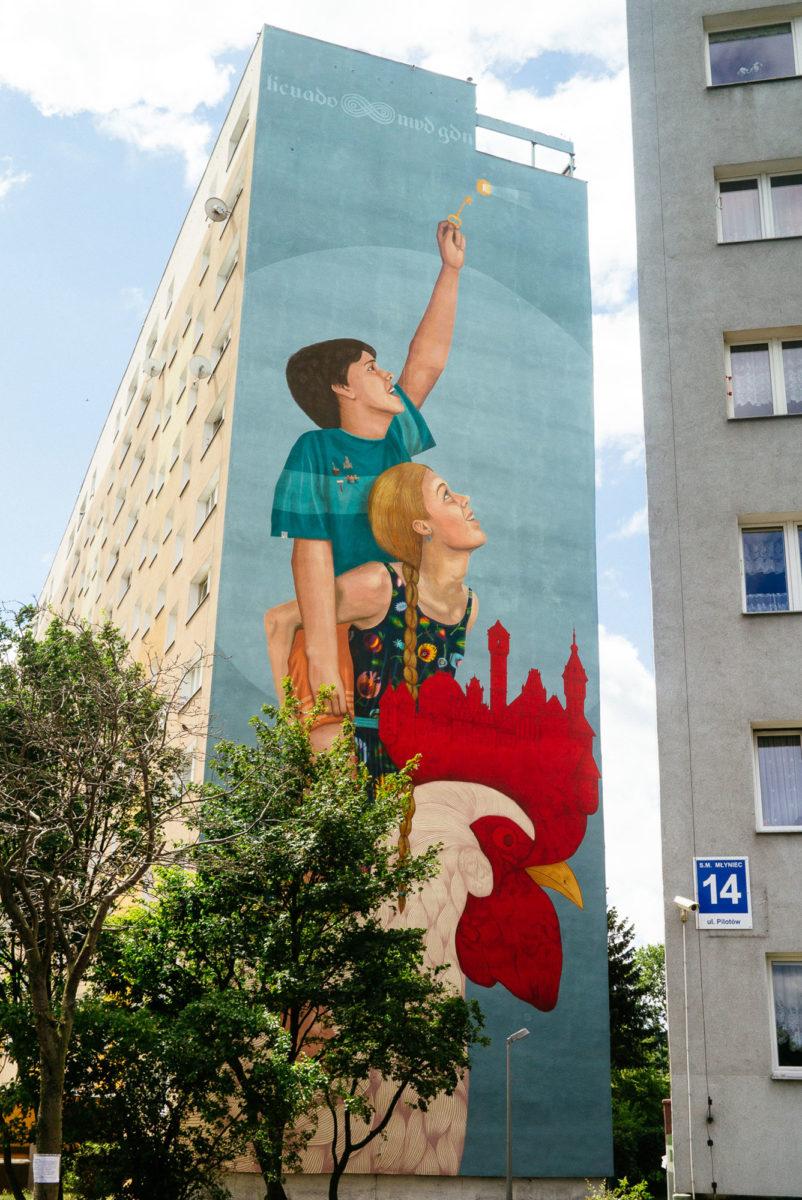 enfants street art gdansk pologne - La plus grande galerie de street art à ciel ouvert est en Pologne !