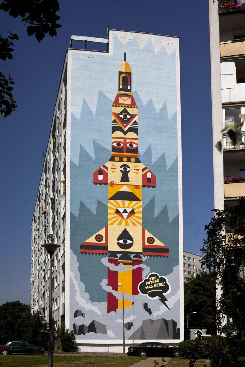 fresque pologne street art gdansk - La plus grande galerie de street art à ciel ouvert est en Pologne !