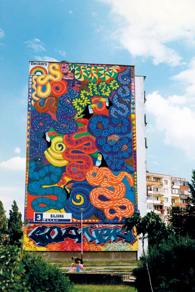 gdansk fresque murale street art - La plus grande galerie de street art à ciel ouvert est en Pologne !