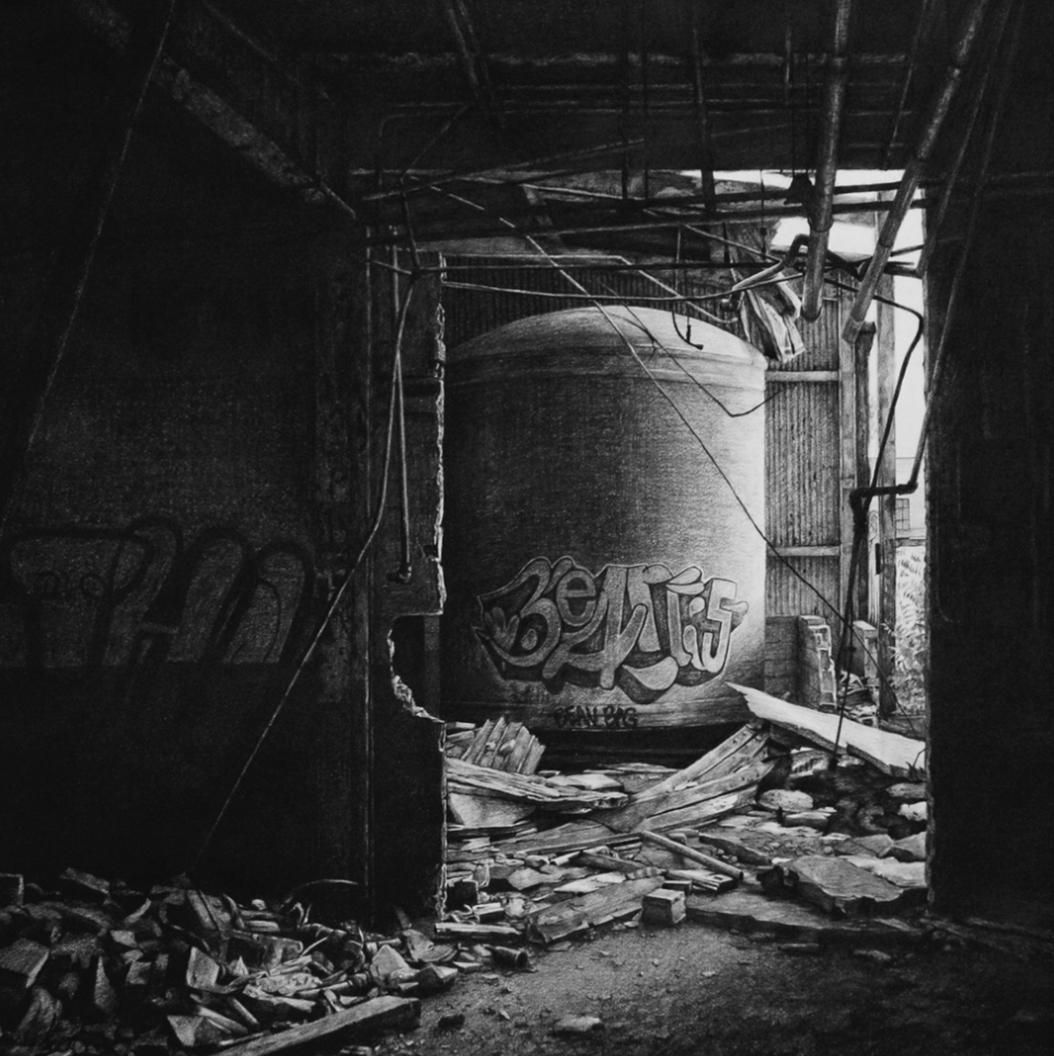 graffiti urbex dessin stephanie buer - L'artiste Stéphanie Buer peint des lieux abandonnés avec un réalisme stupéfiant