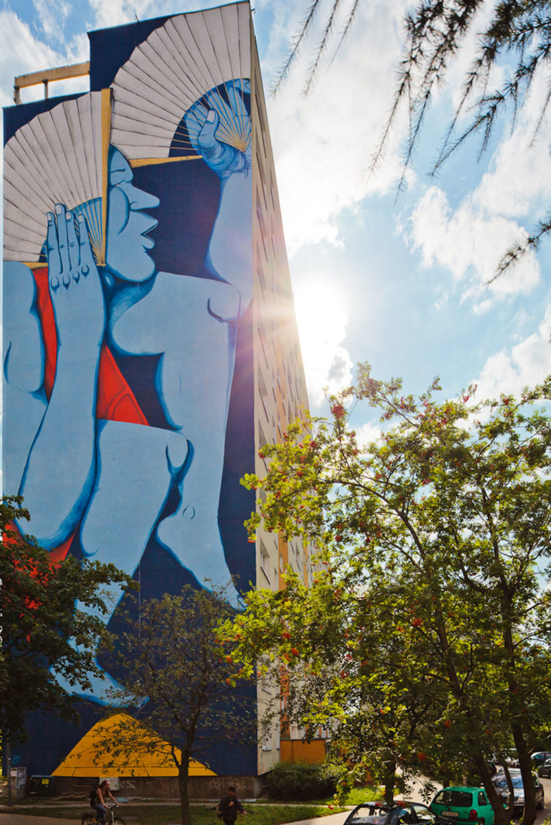immeubles street art gdansk pologne - La plus grande galerie de street art à ciel ouvert est en Pologne !