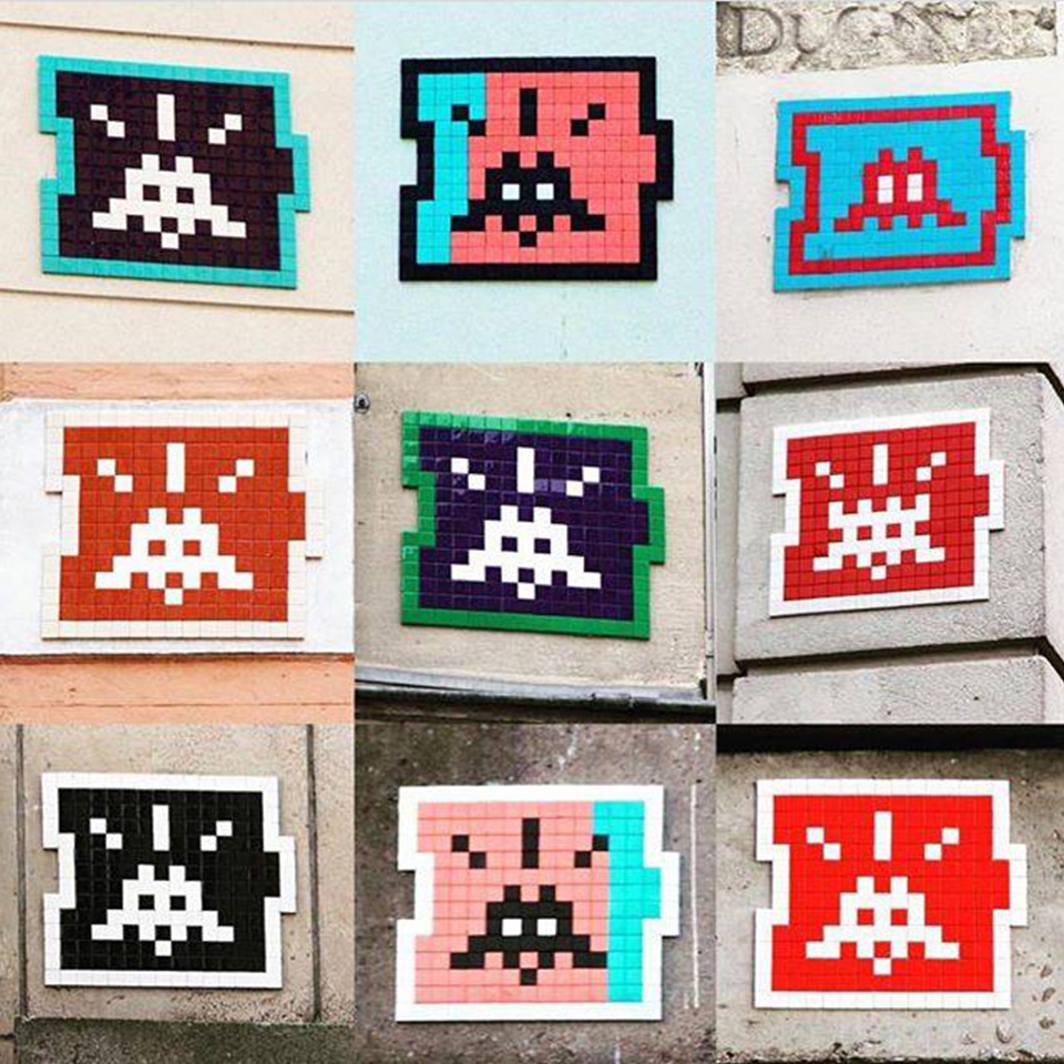 invader exposition art capital paris - Le street art s'invite au Grand Palais le temps du salon Art Capital