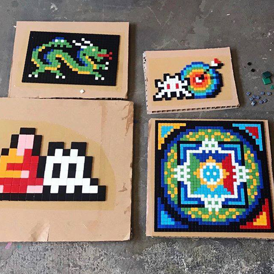 invader street art exposition paris - Le street art s'invite au Grand Palais le temps du salon Art Capital