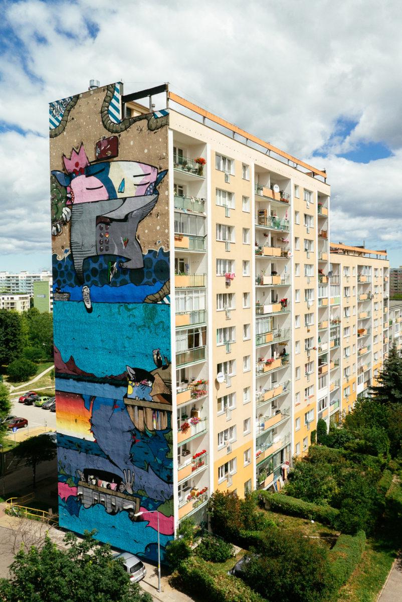 murale gdansk pologne street art - La plus grande galerie de street art à ciel ouvert est en Pologne !