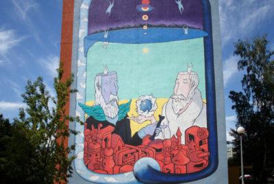 murale gdansk street art pologne 400x268 - La plus grande galerie de street art à ciel ouvert est en Pologne !
