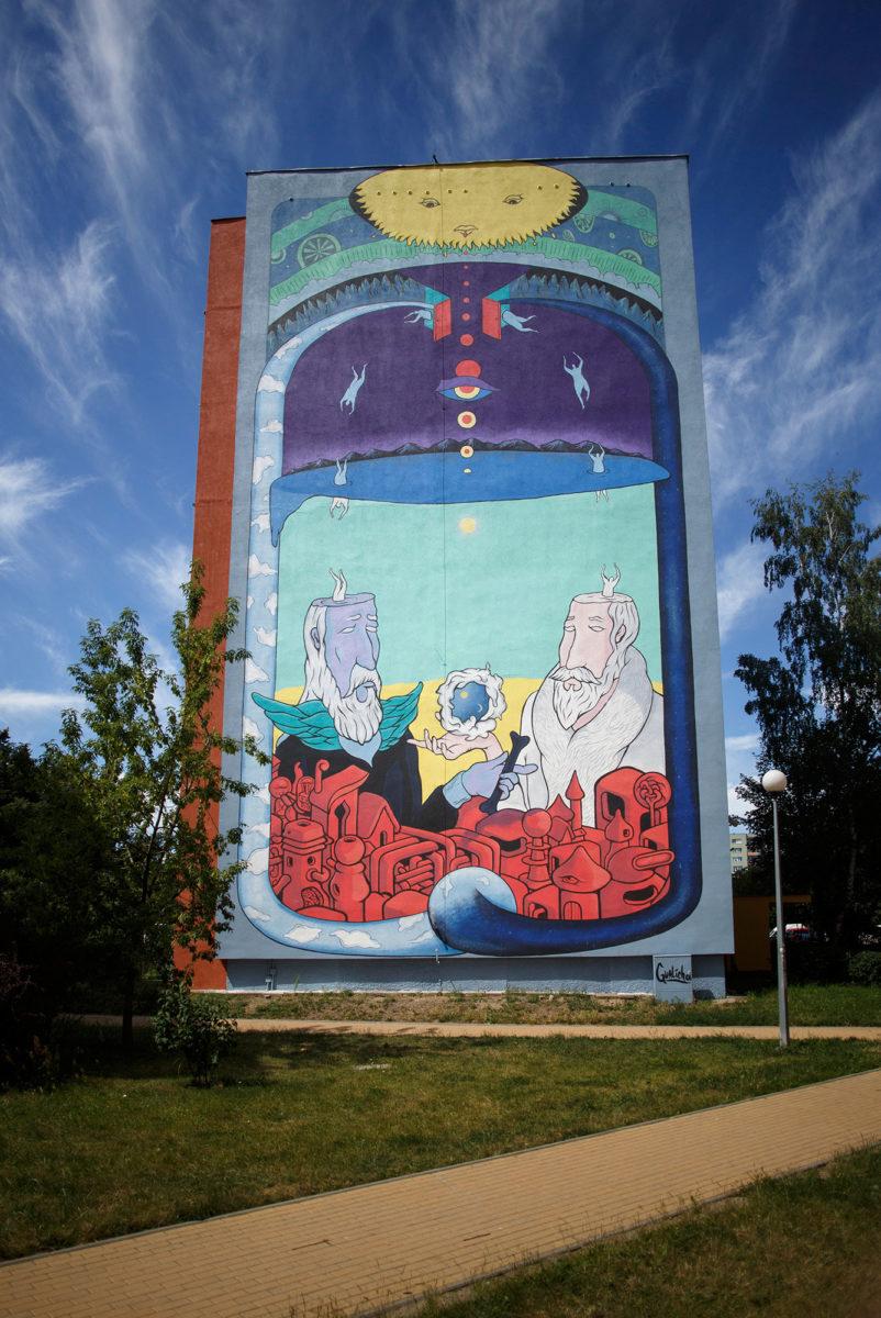 murale gdansk street art pologne - La plus grande galerie de street art à ciel ouvert est en Pologne !