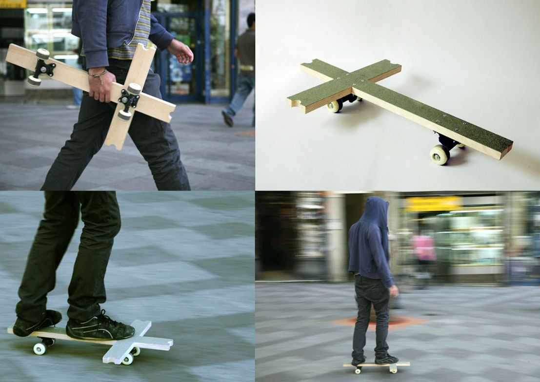 patinete santa cruz skateboard basurama guadalajara - Le collectif Basurama fait du recyclage un art véritable
